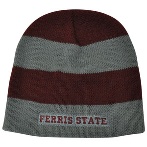 NCAA American Needle Women Ladies Ferris State Bulldogs Cuffless Knit Hat Maroon