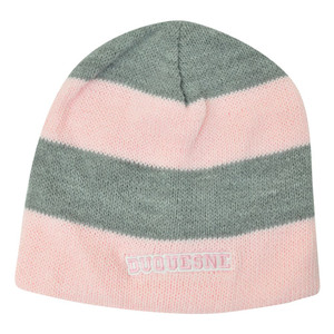 NCAA American Needle Women Ladies Duquesne Dukes Stripe Cuffless Knit Pink Hat