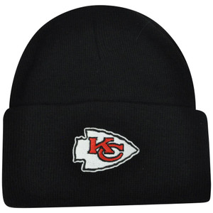 66cbf29da27 NFL Kansas City Chiefs Cuffed Solid Winter Toque Knit Beanie Skully Skull  Hat