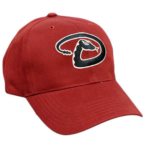 MLB Arizona Diamondbacks Maroon Red Black Constructed Velcro Licensed Hat Cap