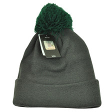 04700e0c3 NFL  47 Brand New York Jets Justus Charcoal Pom Cuffed Knit Beanie Skully  Toque