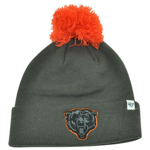 NFL '47 Brand Chicago Bears Justus Charcoal Pom Cuffed Knit Beanie Skully Toque