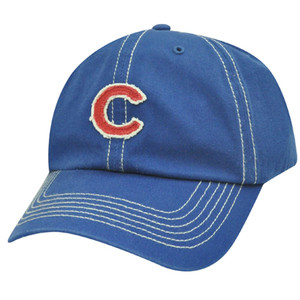 MLB Chicago Cubs Baseball Red Blue Stitches Garment Wash Licensed Relaxed Fit