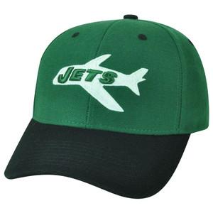 589afeafa NFL Reebok NY New York Jets Dark Forest Green White Velcro Logo Licensed Hat  Cap