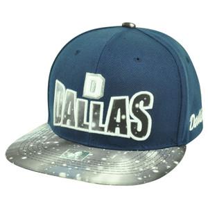Dallas Texas TX Galactic Sublimated Galaxy Flat Bill Snapback Navy Blue Hat Cap