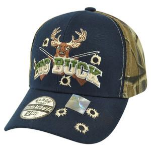 Big Buck Hunter Hunting Hunt Deer Outdoors Two Tone Camouflage Camo Hat Cap Camp