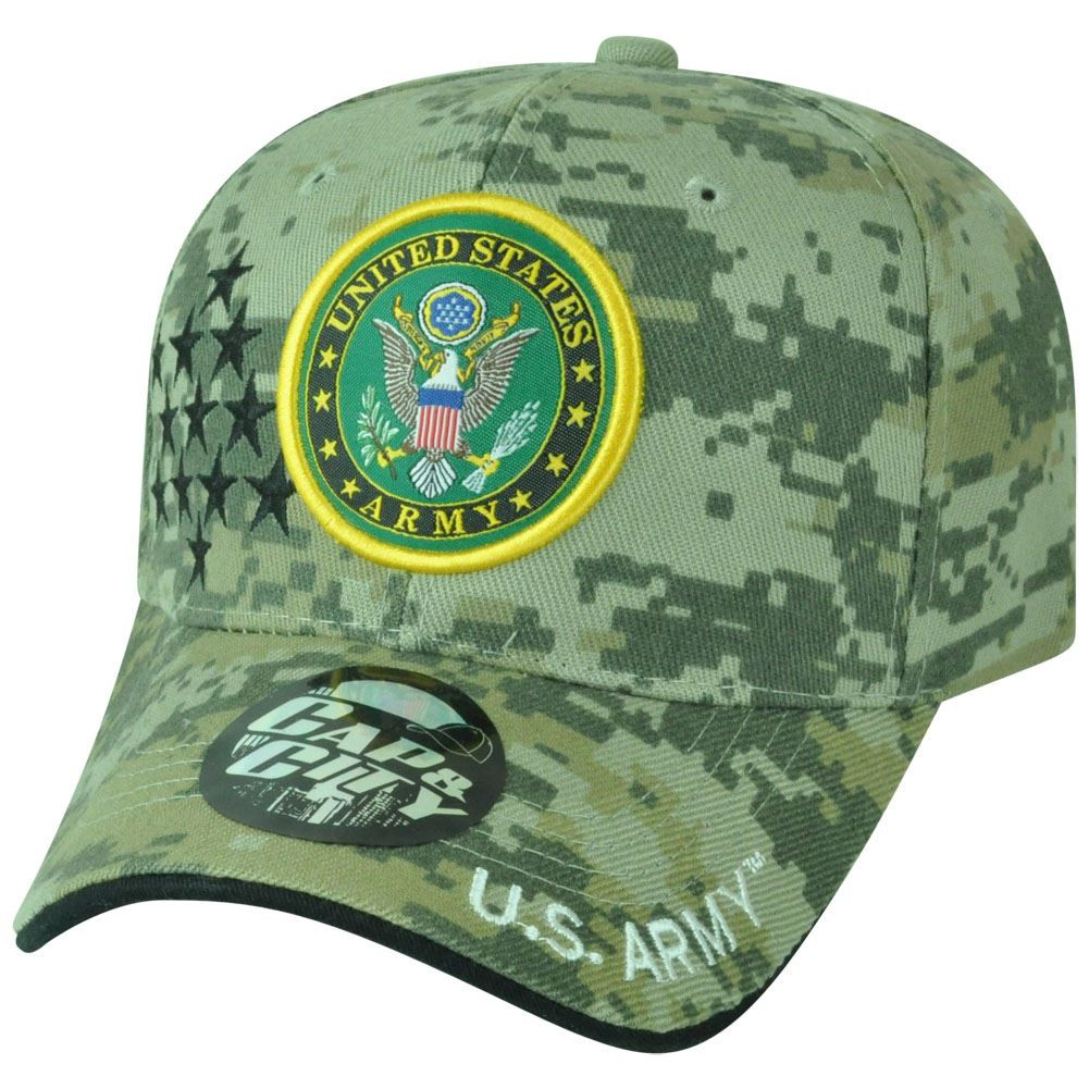 US Army Digital Camouflage Camo Strong Curved Bill Velcro Military ... 9b4fc321091