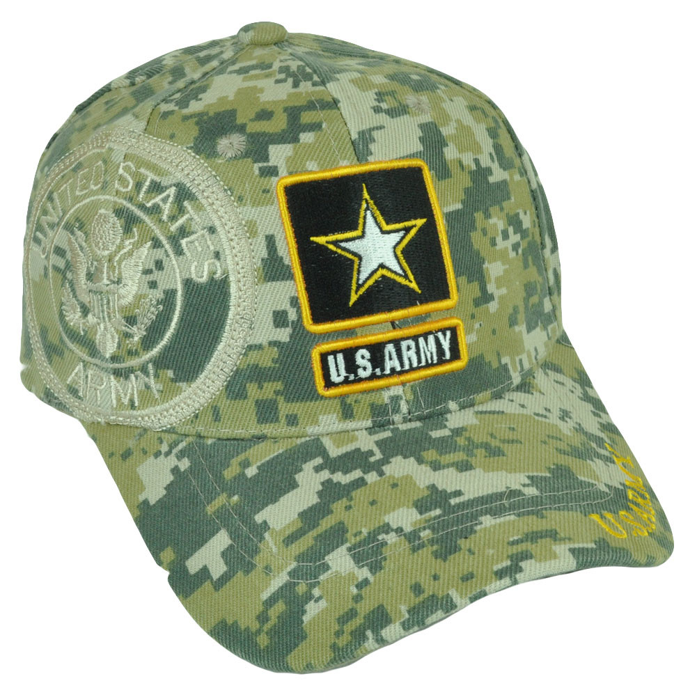 ad3cdb0cdb8 U.S. Army Strong Military Digital Camouflage Camo Velcro Hat Cap Curved  Bill. Image 1