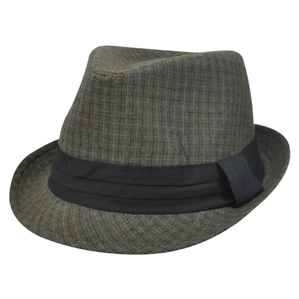 36250a99003ac0 Dark Brown Black Weave Pattern Small Medium MD Fedora Trilby Stetson ...