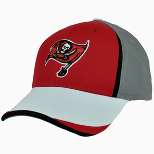 NFL Reebok Hat Cap Stretch Tampa Bay Buccaneers One Size Flex Fit Small Medium