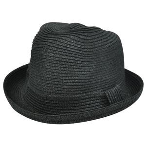 Black One Size Small Med Large Paper Fedora Stetson Homburg Bowler Flip Bowl Hat