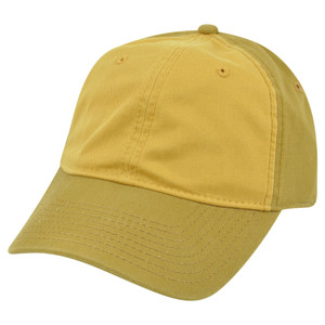 American Needle Blank Two Tone Mustard Yellow Women Ladies Garment Wash Hat Cap