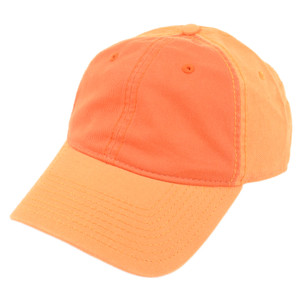 American Needle Blank Two Tone Orange Women Ladies Garment Wash Buckle Hat Cap