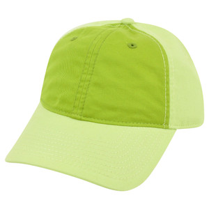 American Needle Blank Two Tone Green Women Ladies Garment Wash Buckle Hat Cap