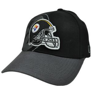 New Era 39Thirty 3930 Classic Black Flex Fit Cap Hat NFL Pittsburgh Steelers SM