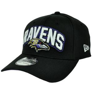 New Era 39Thirty 2012 Draft Black Flex Fit Cap Hat NFL Baltimore Ravens MD Large