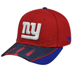 New Era 39Thirty NFL New York NY Giants Hybrid Hex Hat Cap Stretch Flex Fit S/M