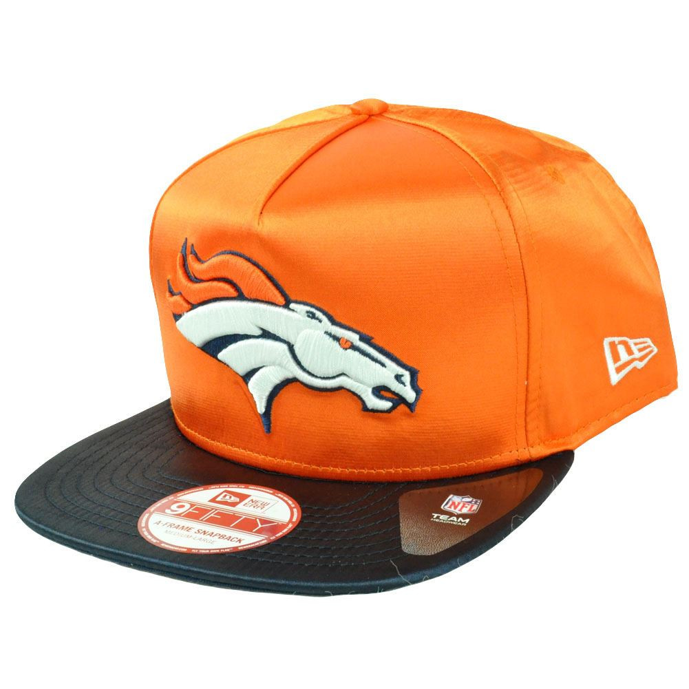 NFL New Era 9Fifty 950 Denver Broncos Team Satin A Frame Retro Snapback Hat  Cap. Image 1 56504e941