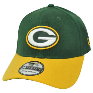NFL New Era 39Thirty 3930 Green Bay Packers TD Classic Flex Fit S/M Hat Cap