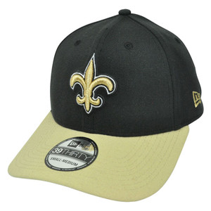 NFL New Era 39Thirty New Orleans Saints TD Classic Stretch Flex Fit L/XL Hat Cap