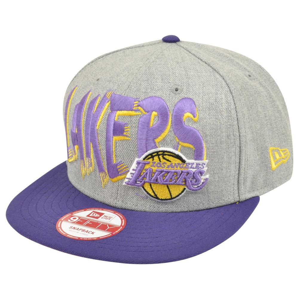 NBA New Era 9Fifty Los Angeles Lakers HWC Team Custom Snapback Heather Hat  Cap. Image 1 7f5a46d67a8