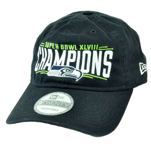 NFL New Era 9Twenty Seattle Seahawks Super Bowl XLVIII Champions Slouch Hat Cap