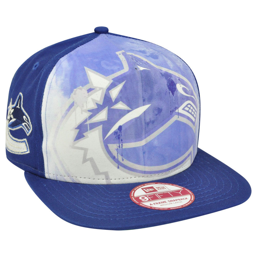 NHL New Era 9Fifty A Frame Over Watercolor Vancouver Canucks ... 42b13ac2fa7c