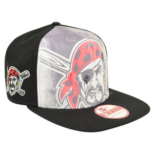 MLB New Era 9Fifty A Frame Over Watercolor Pittsburgh Pirates Snapback Hat Cap