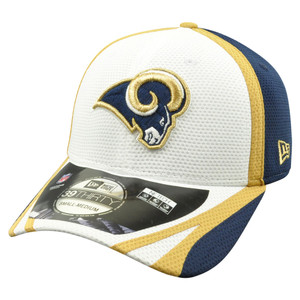 new product f2c8d 0d1cc NFL New Era 39Thirty St Louis Rams 2014 Official On Field Training Flex Fit  L