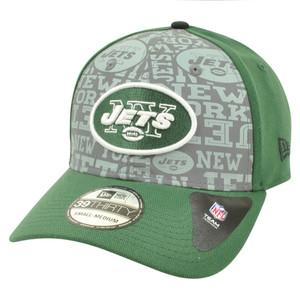 NFL New Era 39Thirty 3930 2014 Reflective New York Jets Flex Fit Hat Cap L/XL