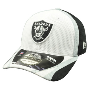 NFL New Era 39Thirty Oakland Raiders 2014 Official Field Training Flex Fit S/M