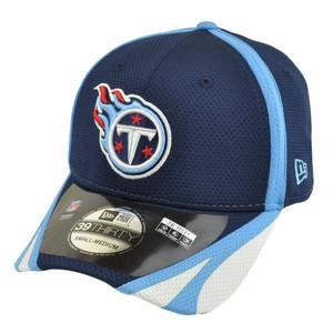 NFL New Era 39Thirty Tennessee Titans 2014 Team Color Training Flex S/M Hat Cap