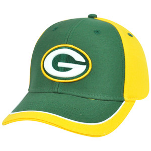 NFL Adjustable Velcro Curved Bill X2507 Constructed Green Bay Packers Hat Cap