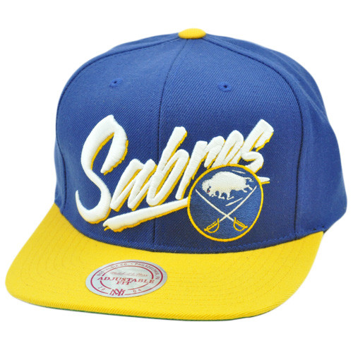 NHL LNH Mitchell Ness Throwback Vice Script Snapback Hat Cap NE93 Buffalo  Sabres. Image 1 f0d732a60af1