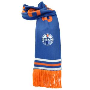 NHL Mitchell & Ness S109 Scarf Scarves Throwback Logo Vintage Edmonton Oilers