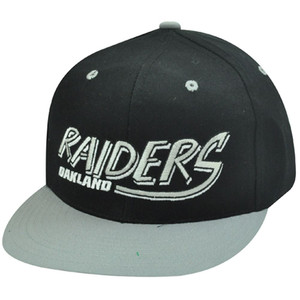 NFL OAKLAND RAIDERS BLACK OLD SCHOOL SNAPBACK CAP HAT