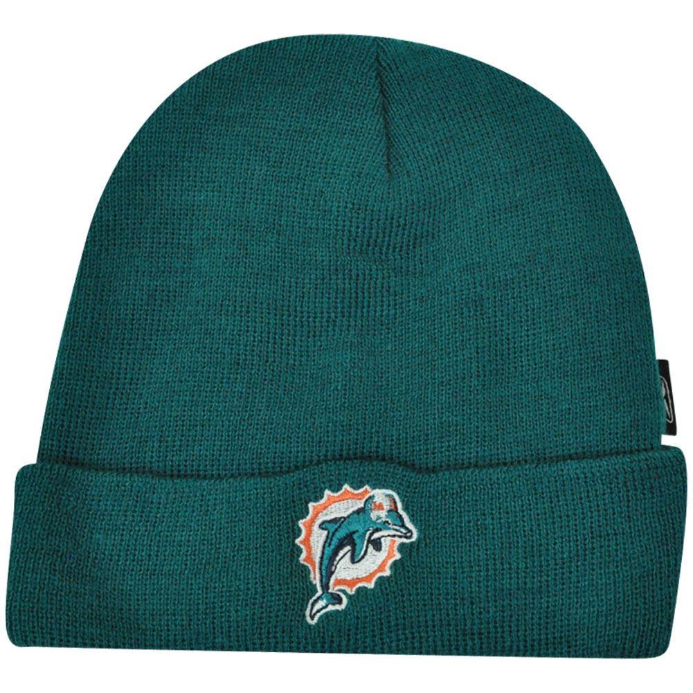 6e1a361221c18 NFL Miami Dolphins Toddler Knit Beanie Cuffed Reebok Rbk Kids Winter ...