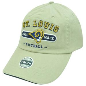 NFL SAINT LOUIS RAMS KHAKI COTTON YOUTH KIDS CAP HAT