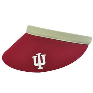 NCAA INDIANA HOOSIERS MAROON CLIP VISOR TENNIS GOLF HAT