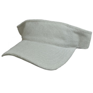 Blank Solid Color Terry Cloth Cotton Towel Tennis Outdoor Sport Visor Hat Cap