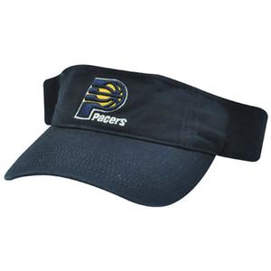 NBA Indiana Pacers Navy Blue Adjustable Velcro Sun Visor Cotton Hat Cap Adult