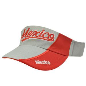 MEXICO LATIN AMERICA RED GREY VISOR HAT CAP TENNIS GOLF