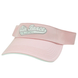 NCAA AIR FORCE FALCONS PINK WHITE VISOR HAT SUN CAP LICENSED GAME VELCRO COTTON