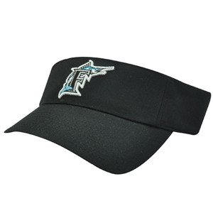 MLB Florida Marlins Miami Baseball Logo Cotton Sun Tennis Visor Velcro Hat Cap