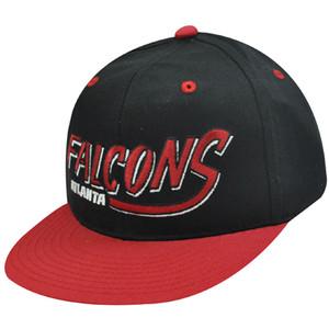 NFL ATLANTA FALCONS RED BLK OLD SCHOOL SNAPBACK CAP HAT