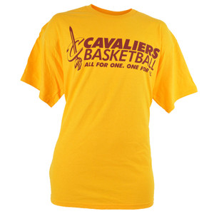 NBA Cleveland Cavaliers Cavs Basketball All For One Yellow Maroon Tshirt