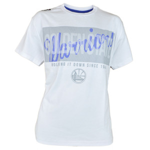NBA UNK Golden State Warriors Fine Line Mens White Basketball Tshirt Tee
