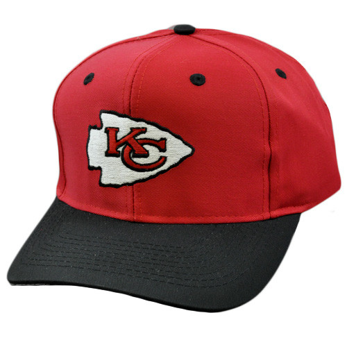 583239d94ab5f7 NFL Kansas City Chiefs Vintage Deadstock Red Blk Snapback Logo ...