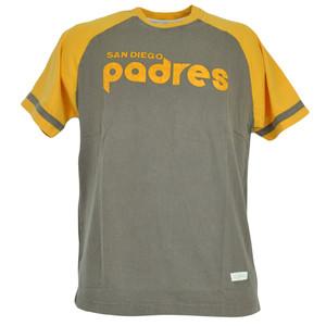 MLB Red Jacket San Diego Padres Distressed Tshirt Faded Baseball Shirt Tee