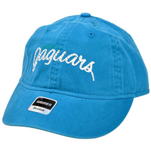 NFL Jacksonville Jaguars Teal Women Reebok Washed Relaxed One Size Fits All Cap